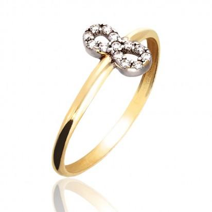 Złoty pierścionek jako znak nieskończoności