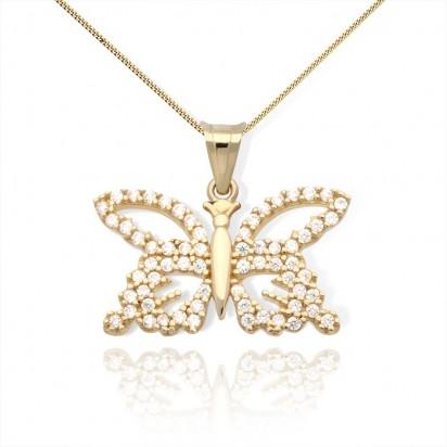 Zawieszka złota olśniewający motyl