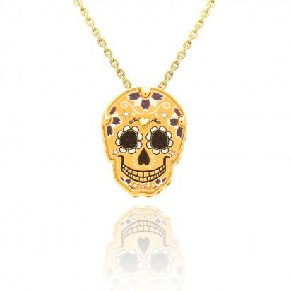 Łańcuszek Złoty z wisiorkiem w kształcie czaszki