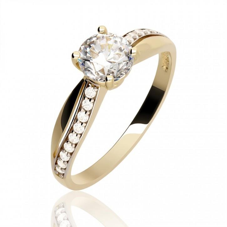 8f5f857e838fce Złoty pierścionek zaręczynowe marzenie - Gold4U