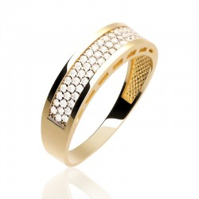 Pierścionek złota obrączka glamour.