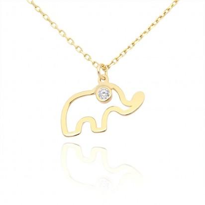 Naszyjnik złoty słonik