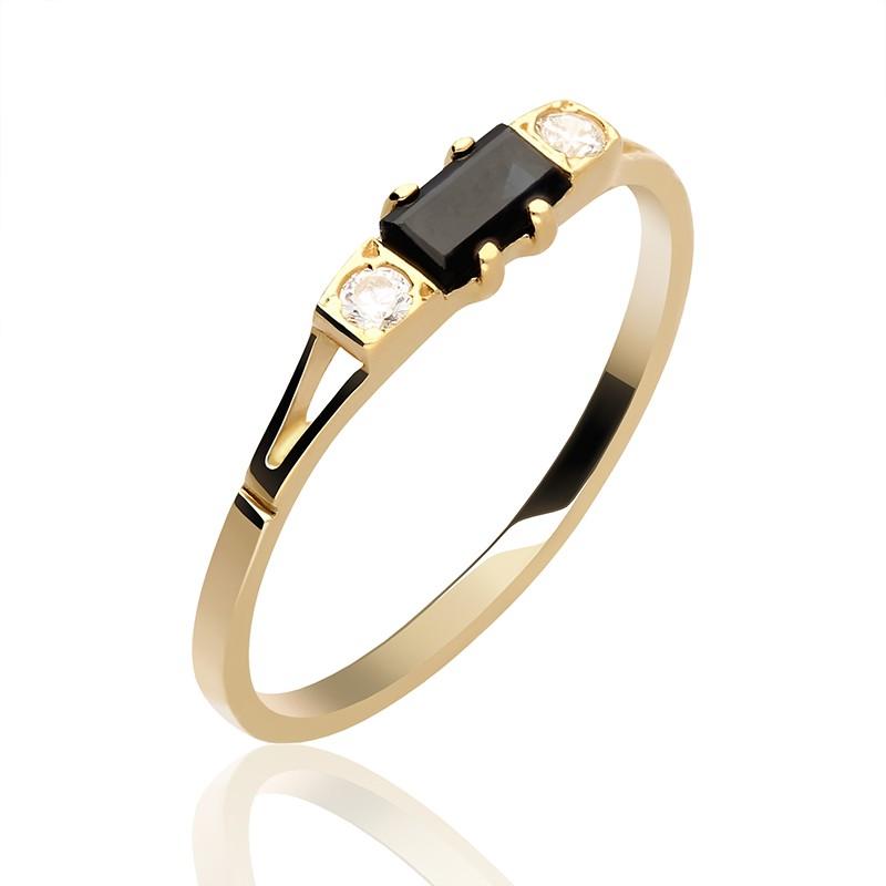 Świeże Złoty pierścionek głęboka czerń - Gold4U VK16