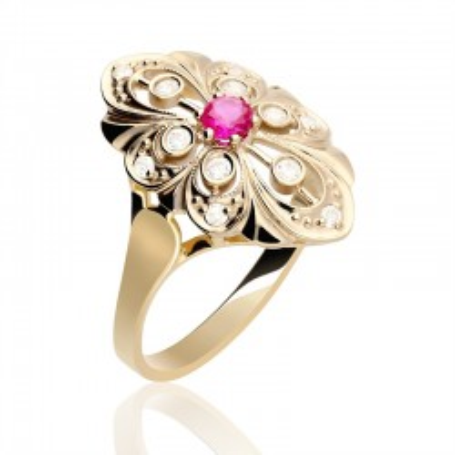 Złoty pierścionek w prestiżowej formie.