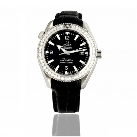 OMEGA SEAMASTER PROFESSIONAL PLANET OCEAN CO AXIAL DIAMOND BEZEL.