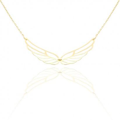 Złoty naszyjnik ażurowe skrzydło