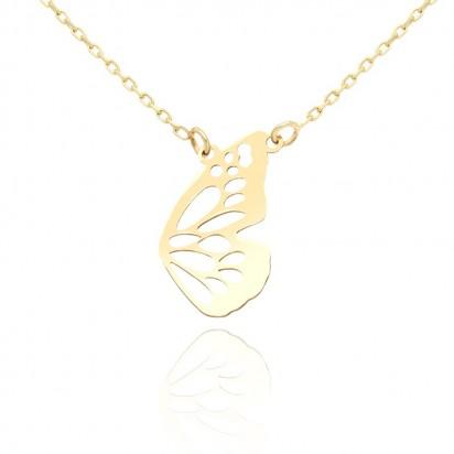 Naszyjnik złoty motylek