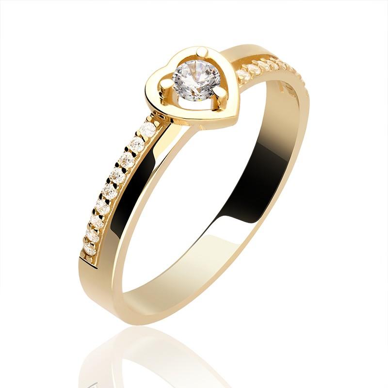 Złoty Pierścionek Serduszko Gold4u