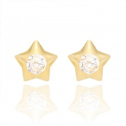Kolczyki złote w kształcie uroczych gwiazdek.