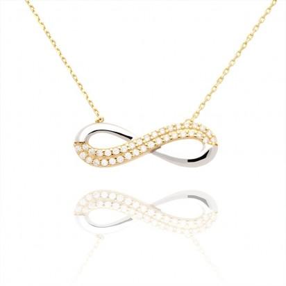 Naszyjnik złoty infinity