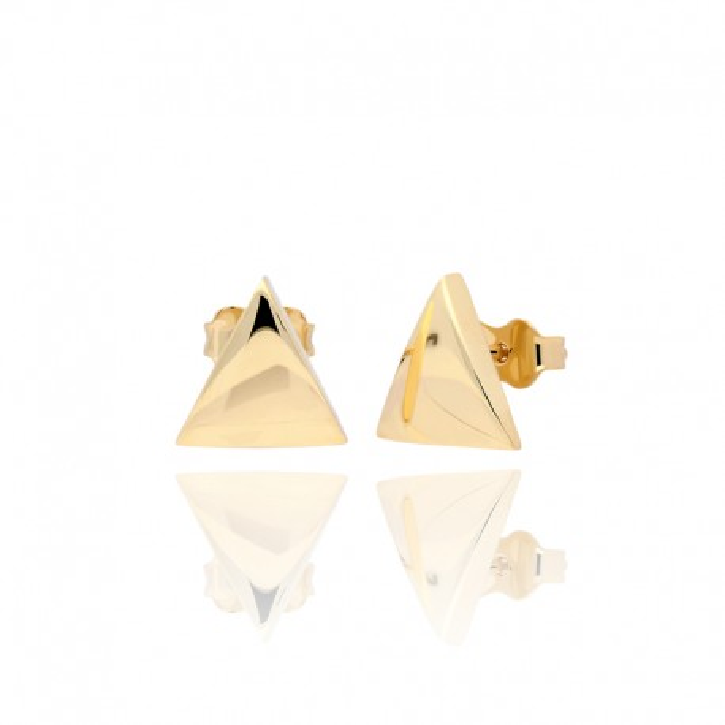 Kolczyki złote trójkąty.