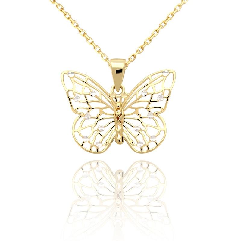 0ca093c8f41b Złota zawieszka ażurowy motyl. Loading zoom